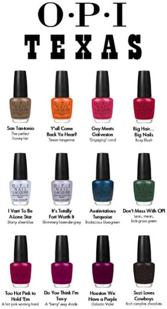 Opi Creates A Texas Inspired Nail Polish Collection D Magazine