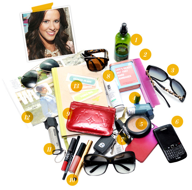 What's in Courtney Kerr's bag?