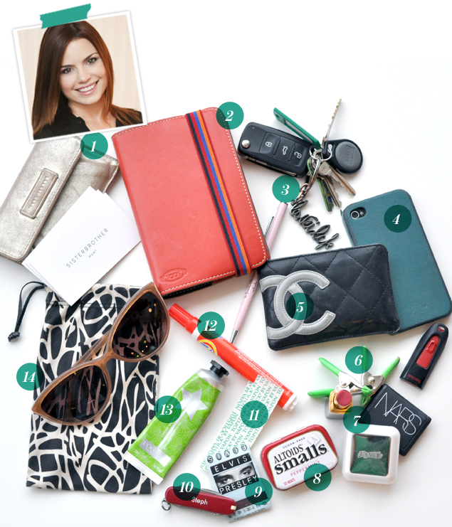 What's in Stephanie Quadri's bag?