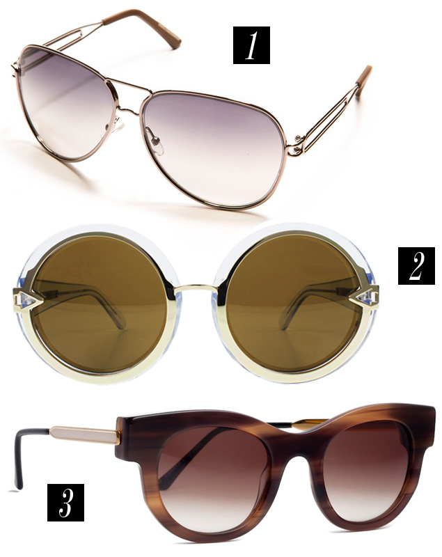 "Thierry Lasry ""Barely"", Karen Walker ""Orbit"", and Roland Mouret aviators"