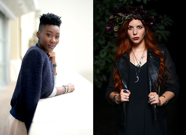 Diamond Mahone of TenOverSix, left, and Stevie Moore of Elements, right (photography by Kristi & Scot Redman)