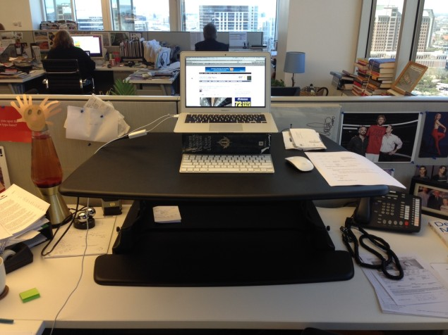 The Varidesk, from Coppell-based Gemmy Industries