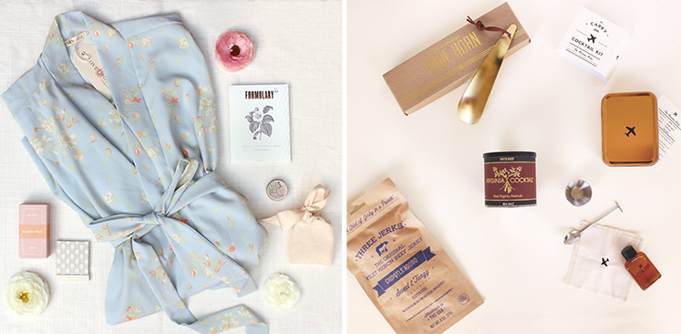 Gifts for maids and groomsmen.