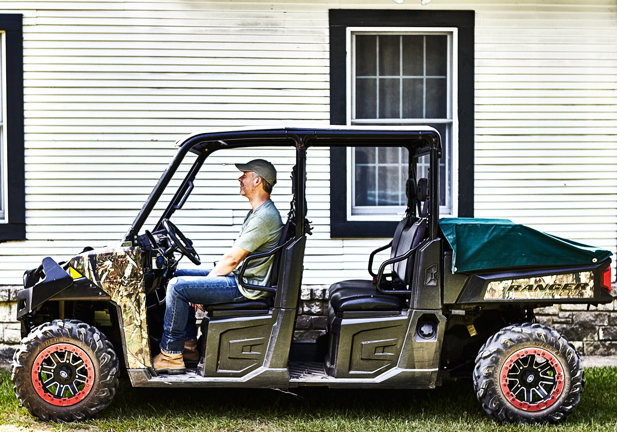 Driving Force: Bennett's hotel business, Ashford Group,and his penthouse condo are in Dallas. But he feels more at home behind the wheel of his Polaris Ranger, wandering around his 1,500 acres in Athens.