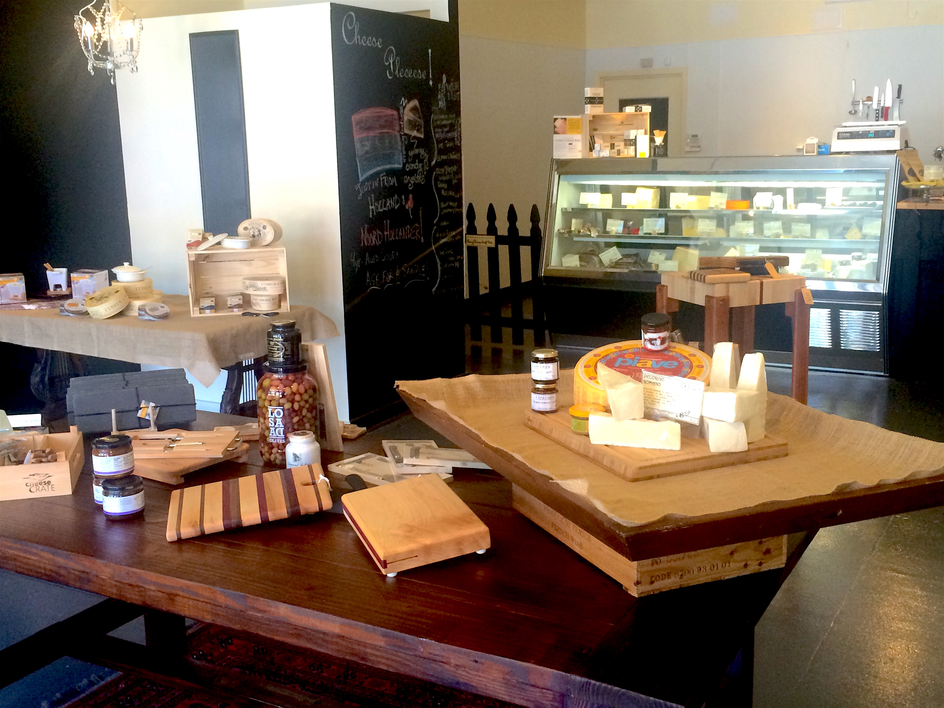 The shop sells a selection of cheese accountrements in addition to its case of cheese. (Photo courtesy of Cheese & Chutney.)