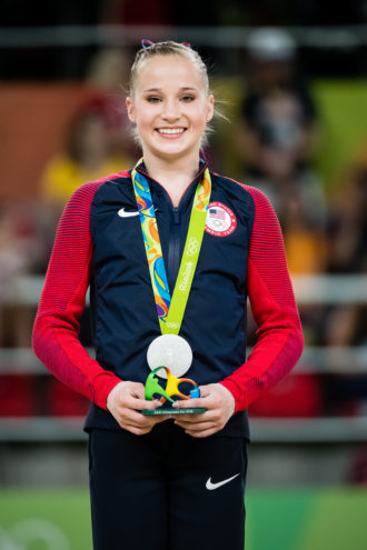 Madison Kocian won the silver medal for the uneven bars at the 2016 Olympics in Rio.