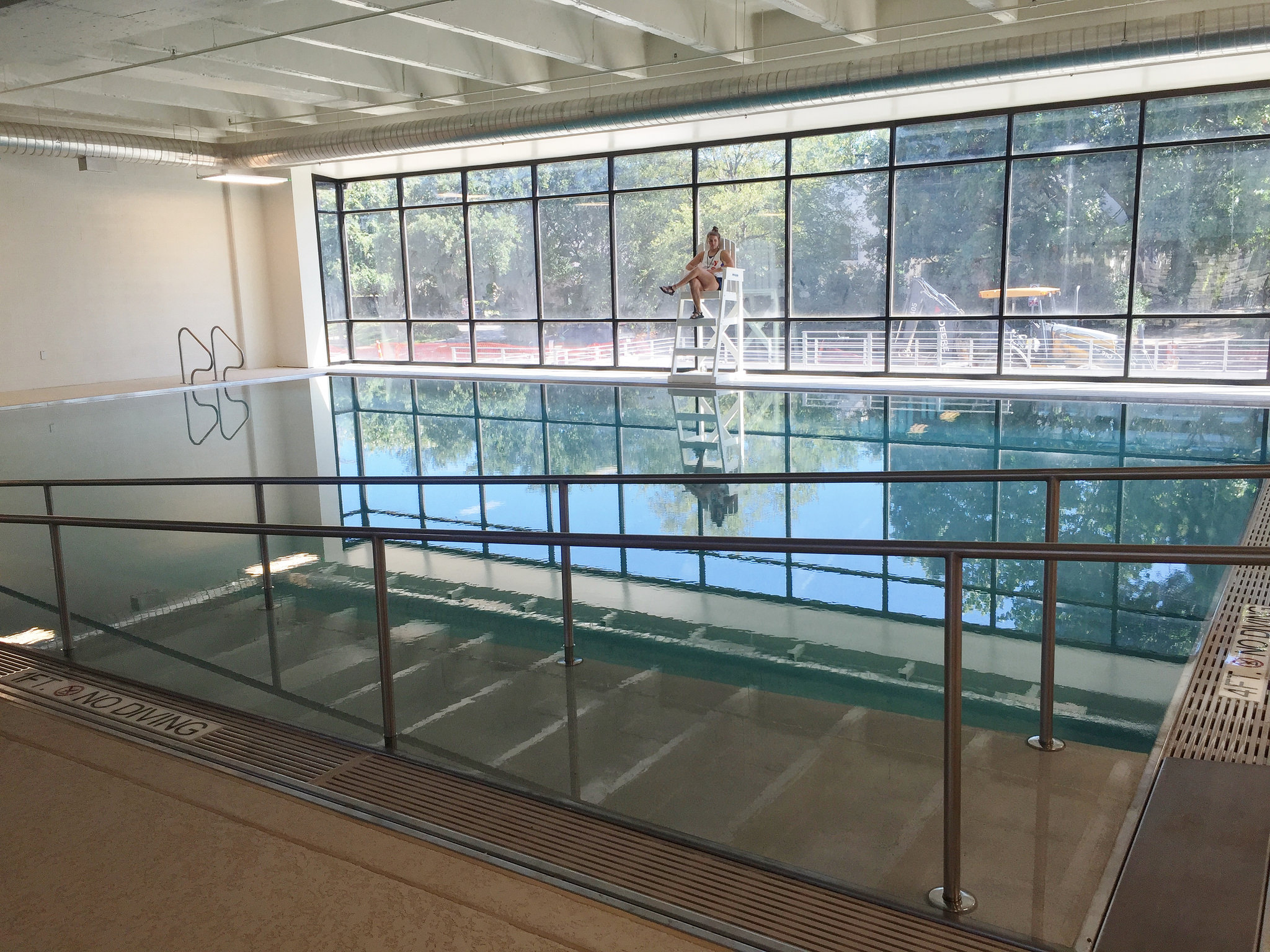 The Seay Natatorium houses a 25-lane pool and a therapy pool.
