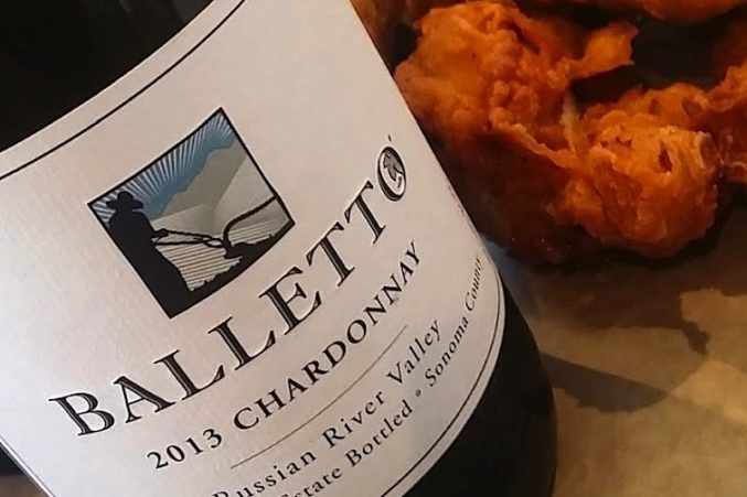 Chardonnay and Fried Chicken from Bird & The Bottle and Balletto Vineyards