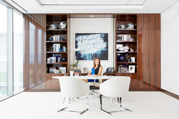 Charlotte Jones Anderson in her office at the Dallas Cowboys' new headquarters in Frisco.