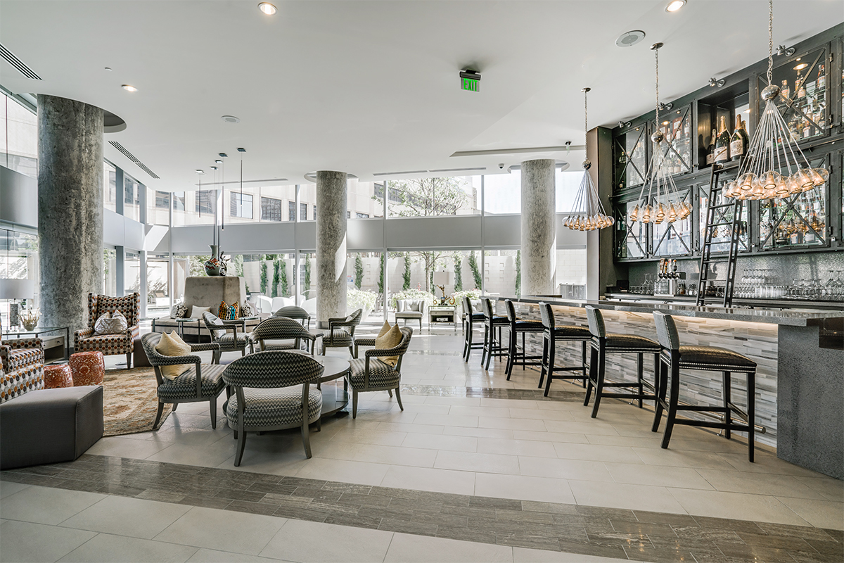 StreetLights' touch can be seen in its McKenzie apartment building in Dallas and in the bar at One Dallas Center.