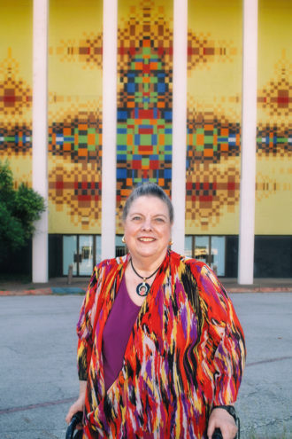 """Meet the Maker: Brenda Stubel visits her creation in October. She was one of the first female architects in Dallas. """"I was always aware of my place in the practice and felt the need to pave the way for a female presence in the profession,"""" she says."""
