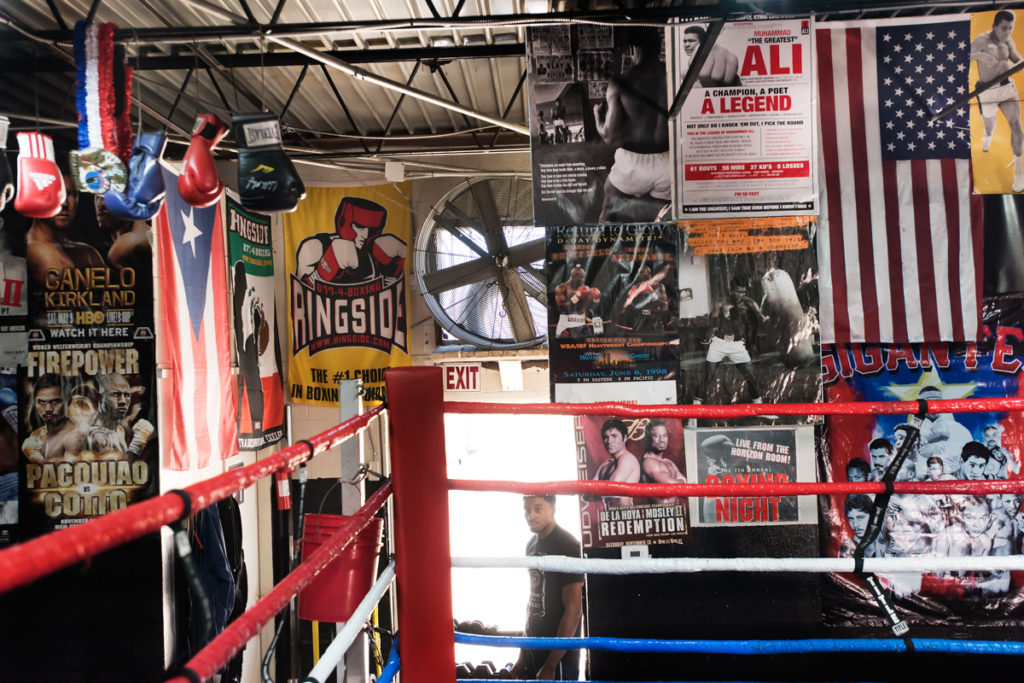 In His Corner: Spence has been training at the R&R Boxing Club with Derrick James.