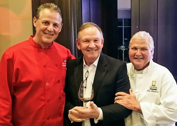 "Chef Richard Chamberlain, Dallas Film Critic Gary Cogill, and Chef Jim ""Sevy"" Severson"