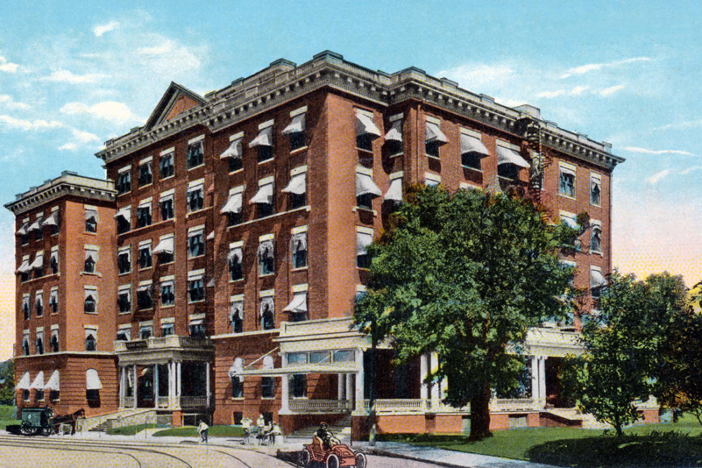 In the early 1900s the Ambassador Hotel property was known as the Park Hotel.