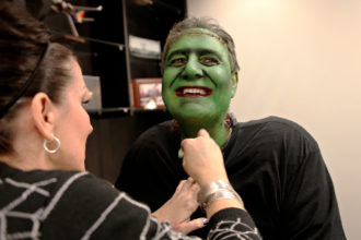 CEO Gary Kelly dressed as Frankenstein for Halloween in 2011.
