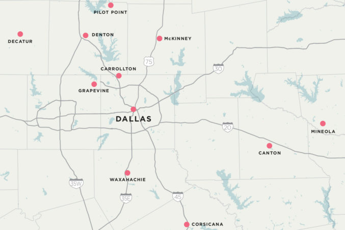 map of dallas texas and surrounding towns 10 Great Day Trips To Small Towns Around Dallas D Magazine map of dallas texas and surrounding towns