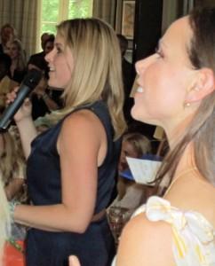 Jenna Hager (at rear) and Barbara Pierce Bush