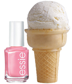 ice cream and nail polish