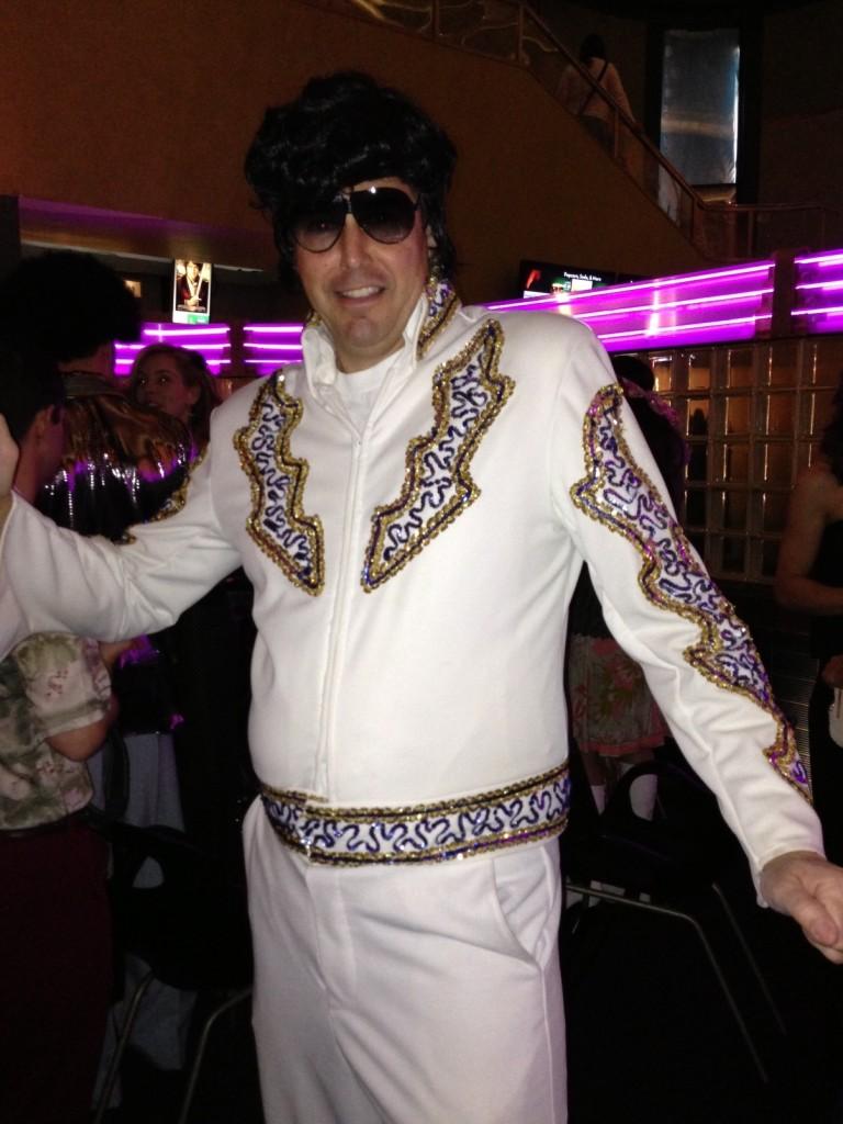 Washburne dressed as Elvis (Photo by Tim Rogers)
