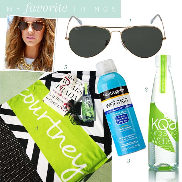 Courtney Kerr's poolside accessories