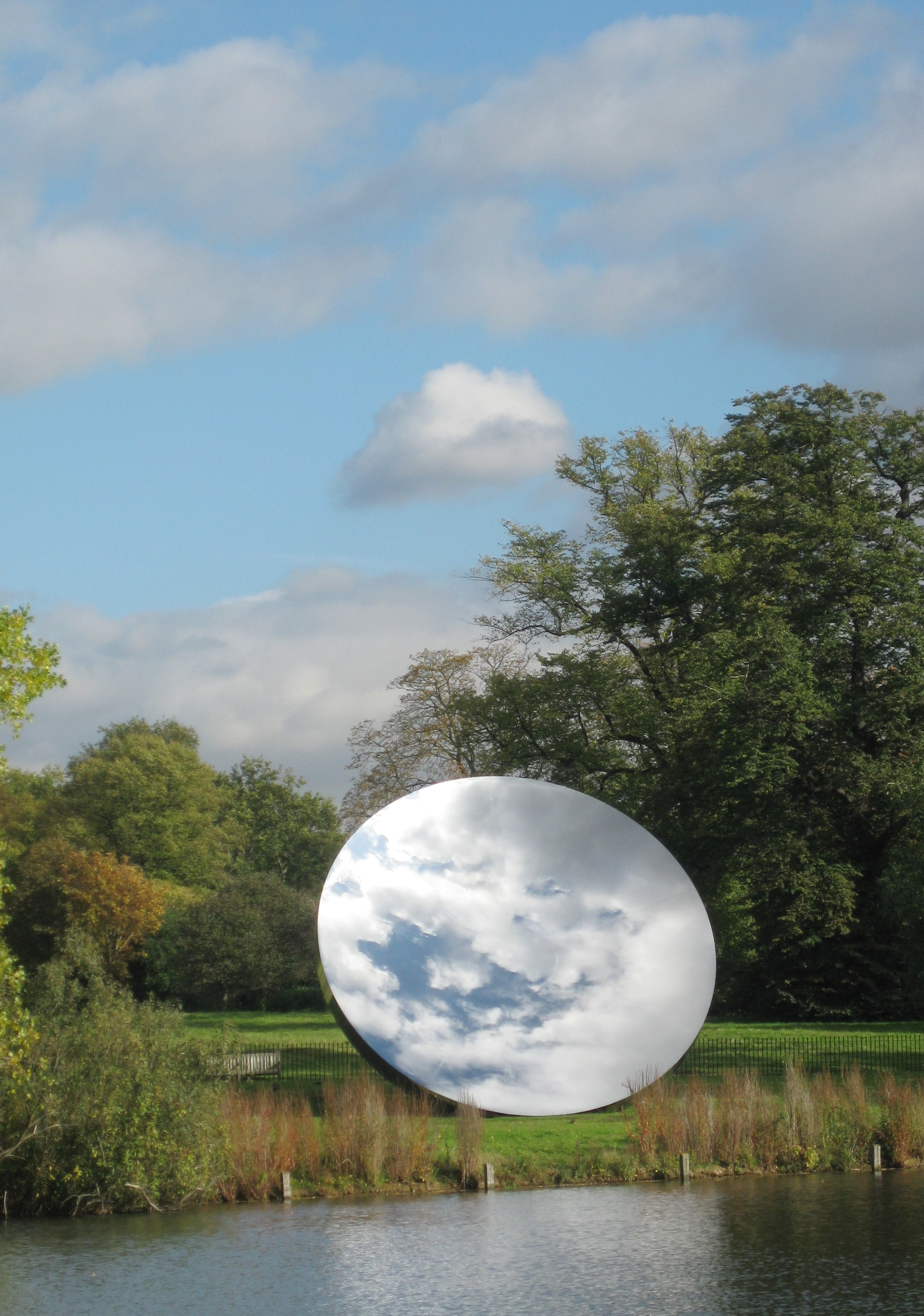 Anish Kapoor's Sky Mirror before it was delivered to AT&T Stadium and destroyed the moon.