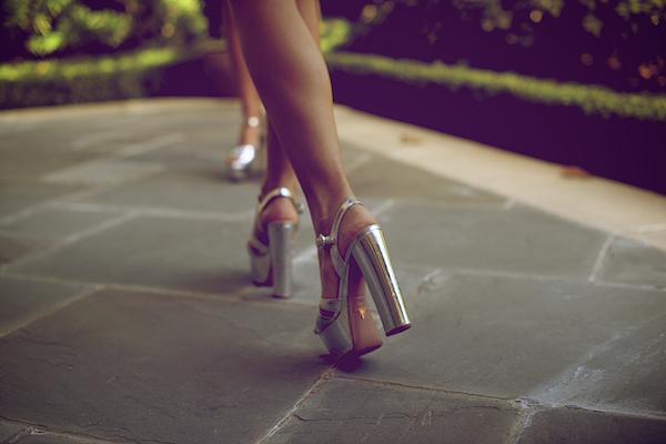 Dallas Street Style Prada Platforms Silver Shoes 264