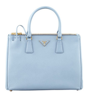 "Prada Saffiano Small Double-Zip Executive Tote Bag. ""TK."" (photo courtesy of Neiman Marcus)"