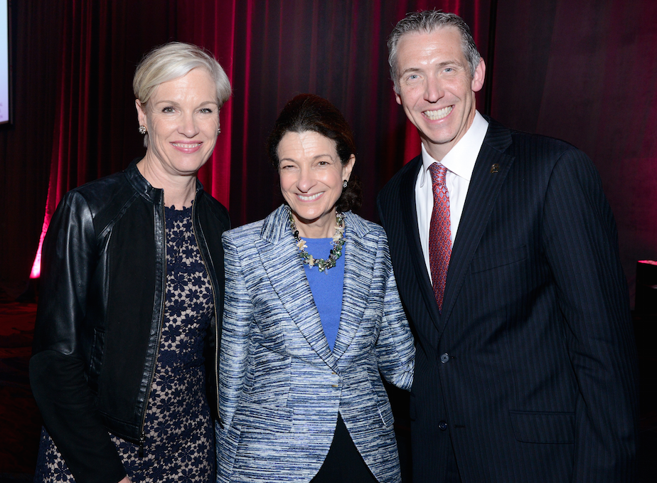 From left, Planned Parenthood President Cecile Richards, former U.S. Sen. Olympia Snowe, and CEO of Planned Parenthood of Greater Texas Ken Lambrecht.