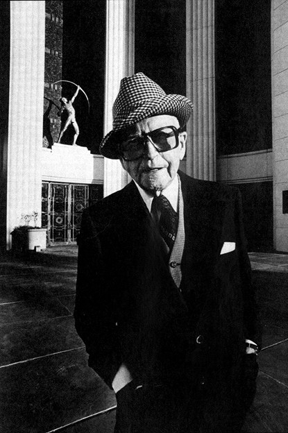 George Dahl, wearing his hat with his signature style (the brim folded down on one side.)