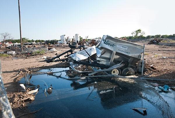 The remains of West Fertilizer Co.  (photo by Elizabeth Lavin)