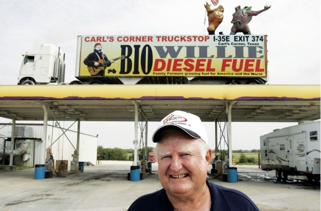 Carl Cornelius in the days when he was selling Willie Nelson's biodiesel.