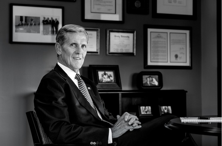 Widely admired for his focus, his foresight, and his commitment to patients, hospital chief Joel Allison is the SMU Cox School of Business' 2014 honoree for CEO of the Year. (Photo by Darren Baun)