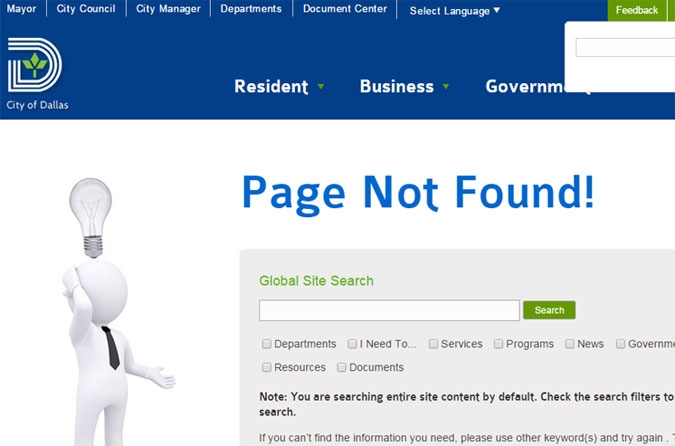 A screen shot of the landing page of the ForwardDallas Comprehensive Plan