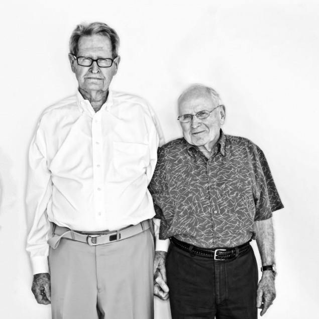 Jack Evans and George Harris, photographed by Elizabeth Lavin.
