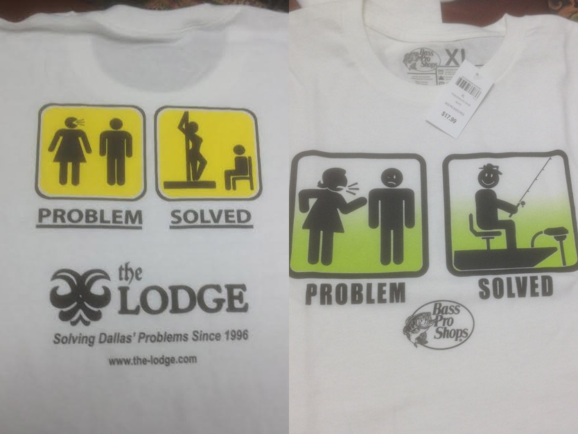 Did Bass Pro Shops Steal a T-shirt Idea From The Lodge? - D Magazine