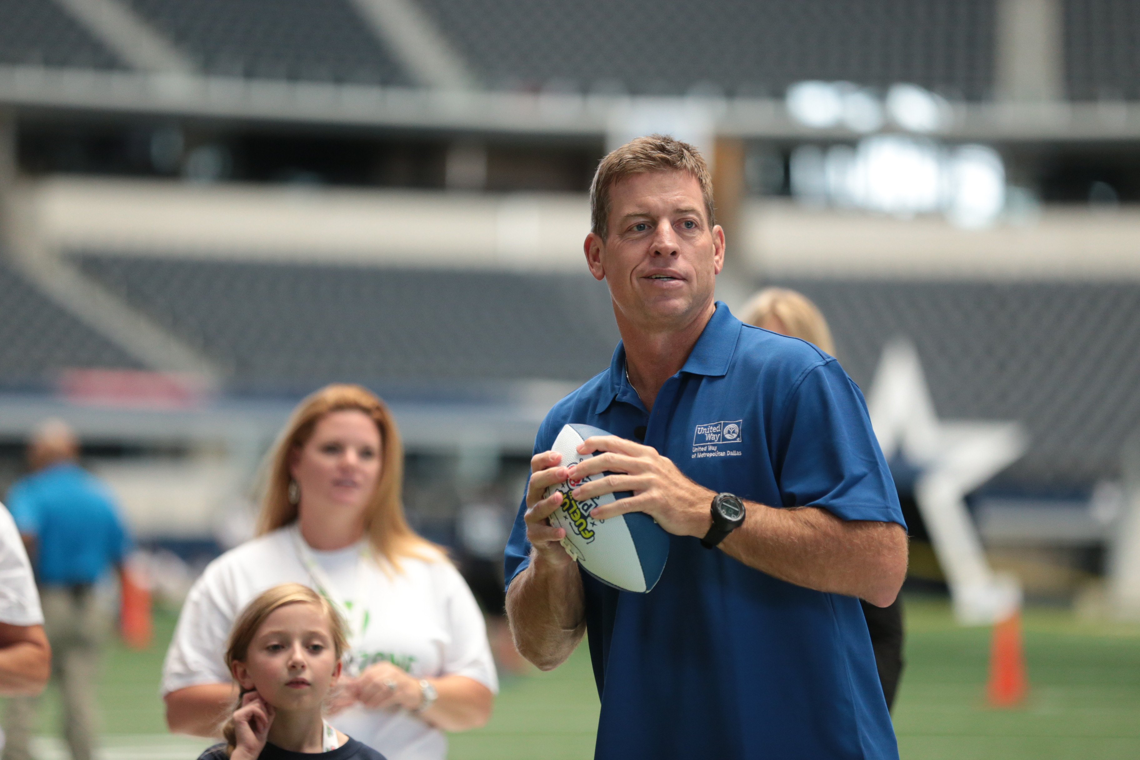 Former Cowboys QB Troy Aikman will lead the Healthy Zone Schools charge today at AT&T Stadium. (Photo courtesy United Way of Metropolitan Dallas)