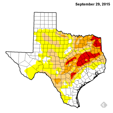 September 29 2015 Drought Monitor map
