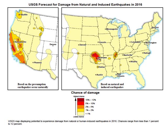 USGS Earthquake probability