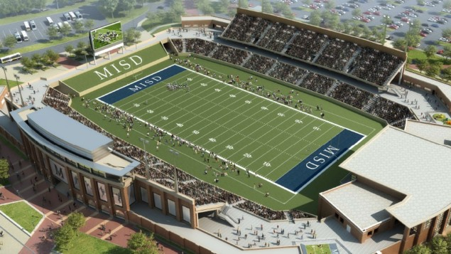 An illustration of what the big, fancy new McKinney ISD stadium would look like.
