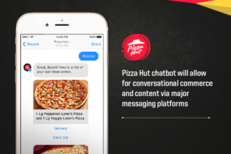With Conversable, Pizza Hut will allow customers to order their favorites via Facebook and Twitter.