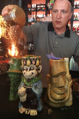 Campbell knows his tiki. (Photo: Catherine Downes)