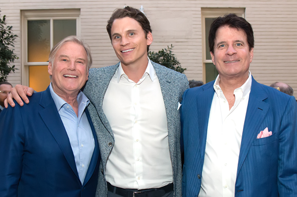Andy Beal (at right) with fellow billionaire Tim Headington (left) and Beal's son Ryan.