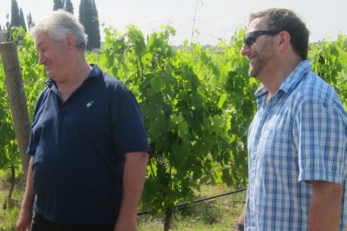 Winemakers Pierre Seillan (left) and Lawrence Cronin