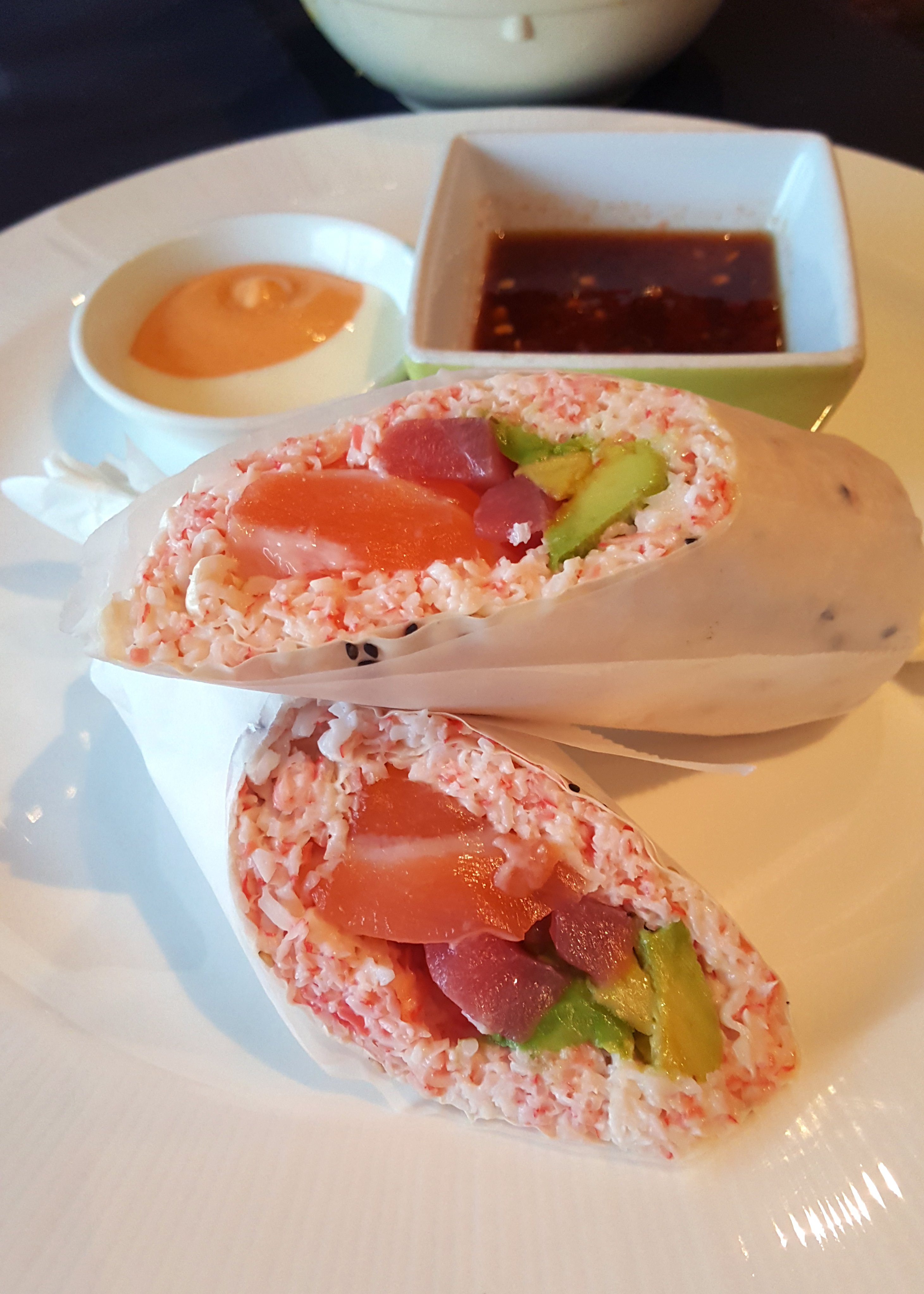 Sushi burrito from Hikari Sushi. Photo by Julia Trupp.