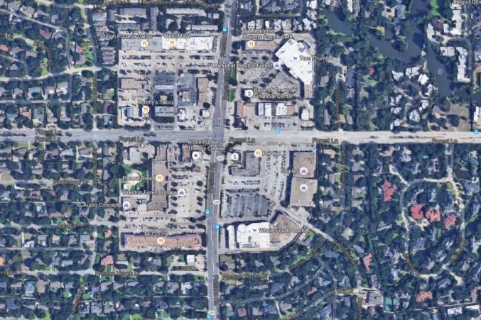 North Dallas 'main and main' commercial corner