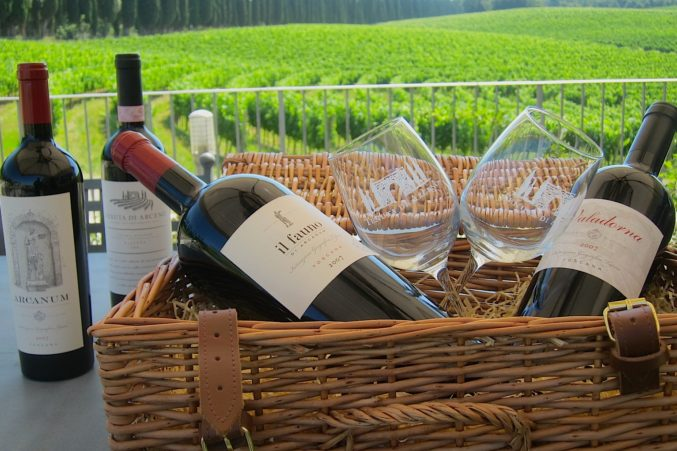 The wines of Arcanum in Tuscany