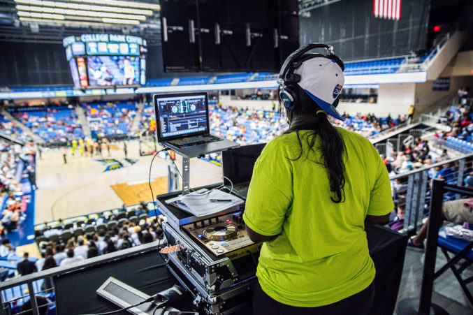 Awino is also the DJ for the WNBA's Dallas Wings. Photo credit: Gavin Lueking.