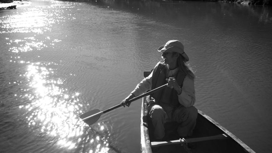Charles Allen canoeing down the Trinity River, 2012 (Photo: Laray Polk)