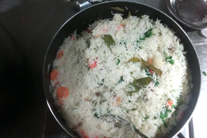 Fluffy rice pulao. (Photo by Eve Hill-Agnus.)