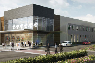 The former Dillard's space at the new Red Bird Mall will be converted into an office building, this rendering shows.